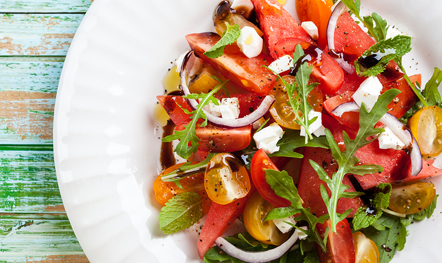 Watermelon, Heirloom Tomato, and Feta Salad - Cabi Fall 2015 ...