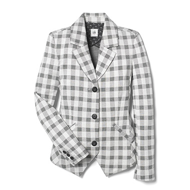 Checkmate.  The cutaway hemline on this jacket adds a touch of flattering brilliance for the win.