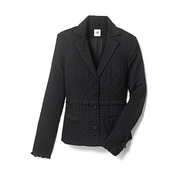 See eye to eye-let add a luxe & ladylike tailored jacket to any ensemble.