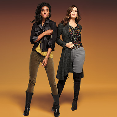 Play matchmaker and set up fall's favorite couple (Jackets & Boots in matching hues).