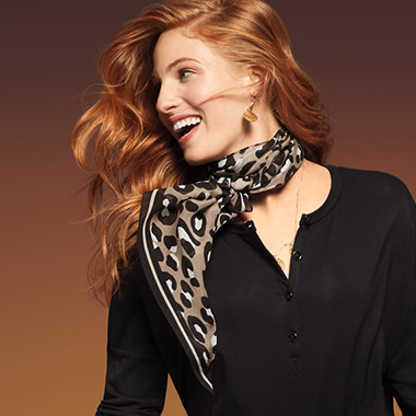 Spice up a classic Fall ensemble with a fierce scarf.