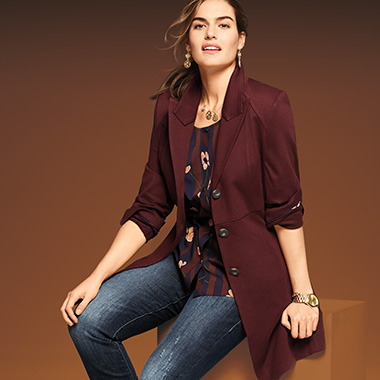 Up your style quotient.  Dress down a standout topper with jeans.