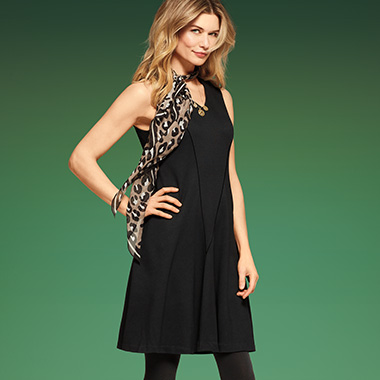Worn with accessories or as one-and-done dressing, our LBD is new, now, and completely comfy.