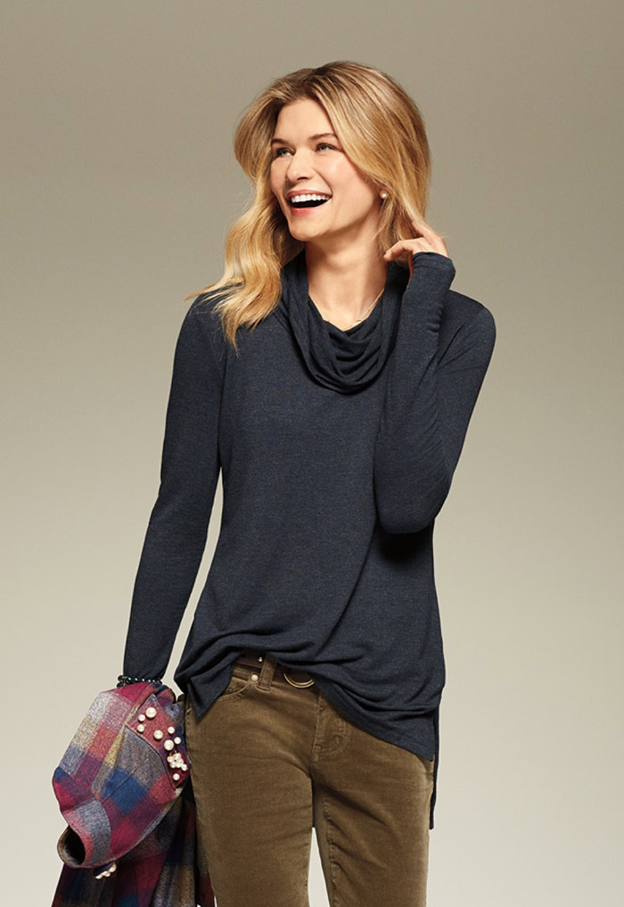 Hanson Anorak, Formal Sweater and High Straight Jeans - cabi Fall Clothing Collection