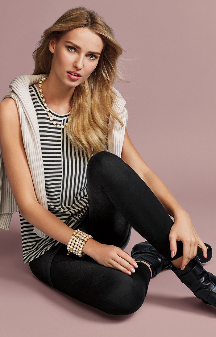 D-Ring Pullover, London Tank, New M'Leggings, Heritage Necklace and Heritage Bracelet - cabi Fall Clothing Collection