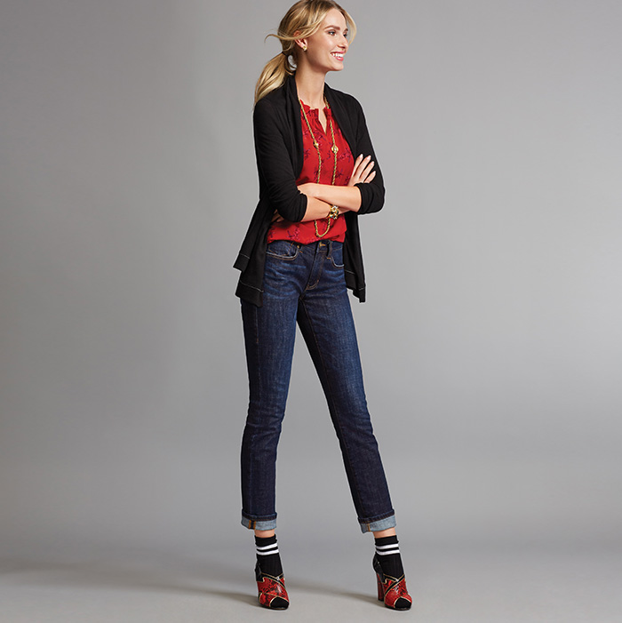 Winsome Sweater, Sprig Blouse and High Straight Jeans - cabi Fall Clothing Collection