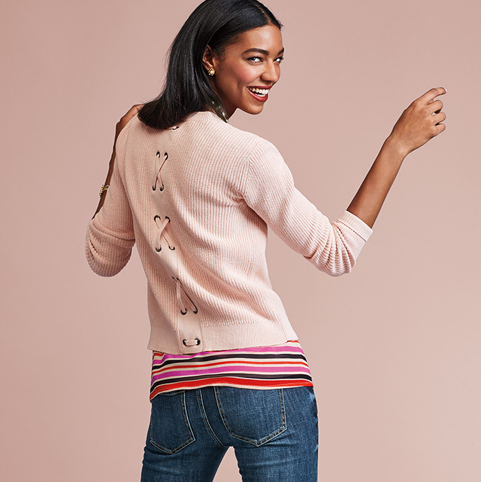 Eliza Cardigan, Banded Cami and Dover Skinny Jeans - cabi Fall Clothing Collection